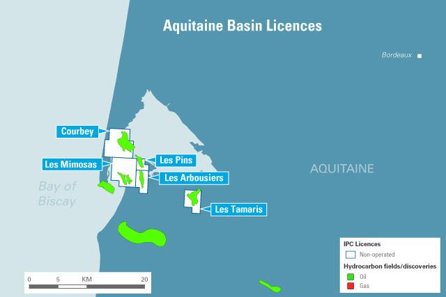 Aquitaine basin asset map
