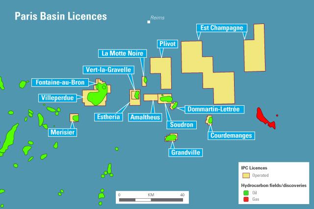 Paris basin map